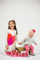 Olivia and Nora's Valentines Day Portraits!